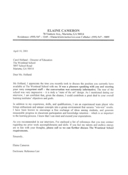 Letter Thanking For An Interview from ecs.ihu.edu.gr